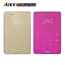 New 5.8mm Ultra Thin AIEK M4 Mini Touch Card Mobile Phone Dual SIM Cute Pocket Phone Low Radiation For Childrens PK AIEK M3(China)