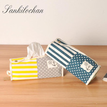 Cute Tissue Box Cloth Napkin Holder Seat Type Home Car Tissue Case Facial Tissue for Home Decoration AU347(China)