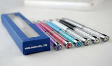 2017 New High-quality Swarovski Ballpoint Pen with Gift brand retail box case Swarovski elements Crystal pen Ballpoint Pen(China)
