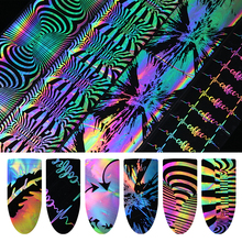Holographic Nail Foil Laser Heart Firework Nail Art Transfer Sticker Nail Decoration Water Sticker Water Slide Nail Polish(China)