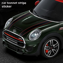 2pcs/lot kk Mini JCW Mini Cooper S One John Cooper Works Countryman Car body Sticker car bonnet stripe sticker Car Styling(China)