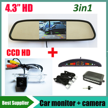 parking sensor + car monitor + for Chevrolet Aveo Trailblazer Cruze Opel Mokka Cadillas SRX CTS car parking rear view camera