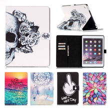 "Buy Apple iPad Pro 9.7"" Painting Cover Silicon Leather Case iPad Pro 9.7inch Flip Stand Card Holder Screen Protector for $11.77 in AliExpress store"