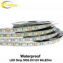 LED Strip 5050 Waterproof DC12V Flexible LED Light 60 leds/m IP65 Waterproof 5m/lot 5050 RGB LED Strip.