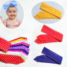 Fashion DIY Headwear Kid Child Baby Head Wrap Knot Dot Bow Vintage Headbands Retro Scarf Infants Headwear Girl Hair Accessories