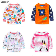VIDMID 1-6Y baby girl t-shirt girls shirts children blouse spring autumn kids t shirt for girls cartoon cotton long sleeve