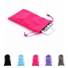 Universal Soft Velvet Cloth Pocket Purse Case Pouch Bag For Mobile Phone Cellphones
