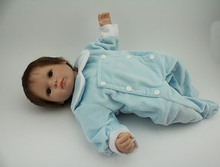 Buy Free shipping New arrived vinyl silicone lifelike baby doll bebe reborn de silicone reborn baby dolls girls