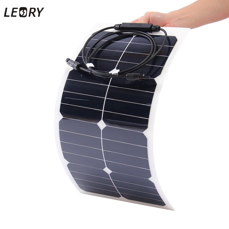 25W 18V Semi Flexible Monocrystalline Sunpower Solar Panels High Efficiency