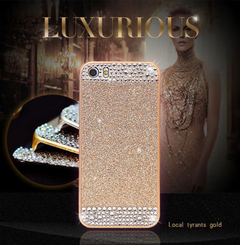 Fashion Hot Luxury Diamond Case For iphone 5 For iphone 5S Phone Cases Back Cover phone accessories(China (Mainland))