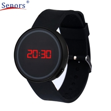 Boy Girl Electronic Watch Superior Fashion Watch LED Touch Screen Date Black Silicone Men Women Wrist Watch July 8