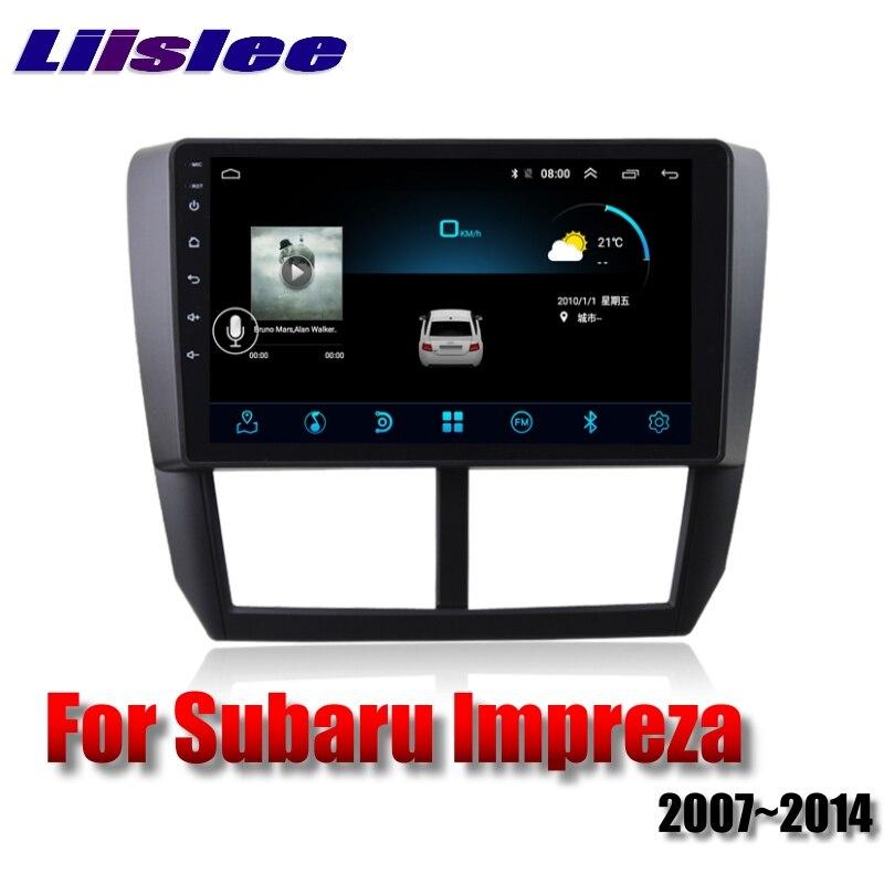 For Subaru Impreza Outback Sport B3 GE GV GH GR RX WRX 2007~2014 LiisLee Car Multimedia GPS Audio Radio Stereo Navigation NAVI 5