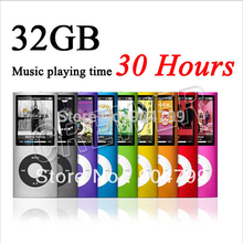 100pcs/lot slim 4th gen mp4 player 32GB 9 Colors for choose Music playing time 30Hours fm radio video player