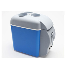 Free Delivery Portable Fridge Blue Portable Mini Summer Travel Driving Hot And Cold Car Refrigerator For Car And Home