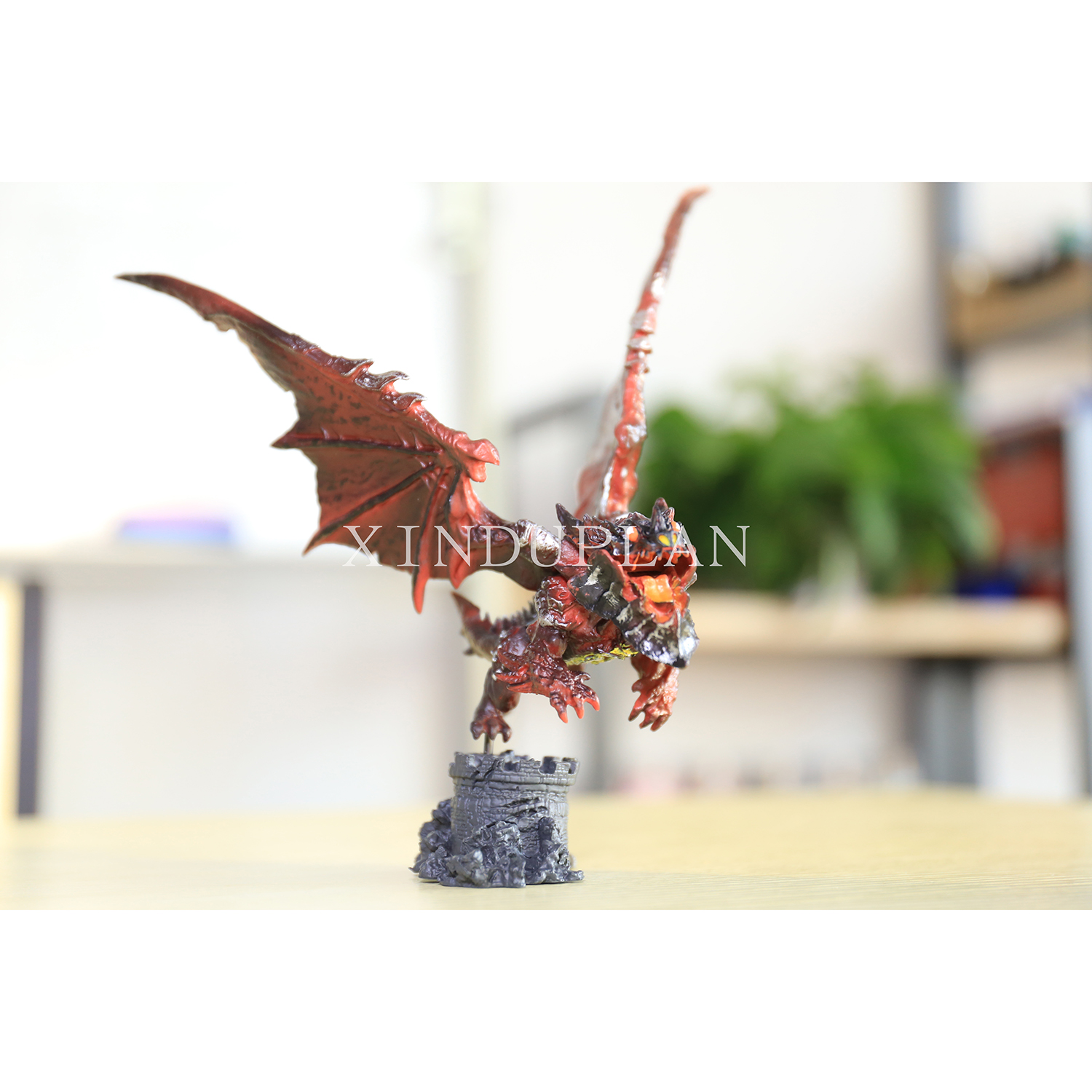 XINDUPLAN NEW Dota 2 Neltharion Deathwing Dragon Action Figure Toys Cartoon Game 20cm PVC Kids Gifts Collection Model 0316<br>