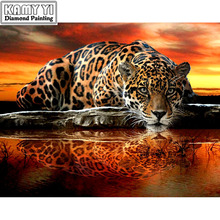 "Full Drill Square Diamond 5D DIY Diamond Painting""Tattoo tiger""Diamond Embroidery Cross Stitch Rhinestone Mosaic Painting(China)"