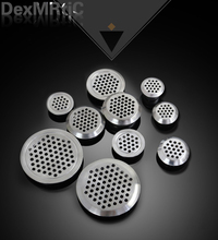 10Pcs 19mm/25mm/35mm Wardrobe shoe Cabinet Ventilating Mesh Hole Air Vents Metal Mesh Hole Round Louver Ventilation Grille Air(China)