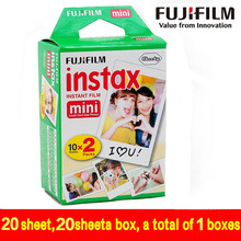 Genuine 20pcs fujifilm instax mini 8 film 20 sheets for camera Instant mini 7s 25 50s 90 Photo Paper White Edge 3 inch wide film