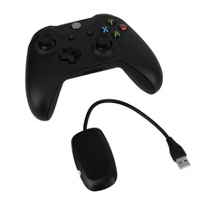 Black 2.4GHz Wireless Game Controller Joypad Gamepad Joystick with Controller Receiver For Xbox One Microsoft PC Laptop