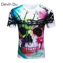 Devin Du new Fashion Brand T-shirt Hip Hop 3d Print Skulls Harajuku Animation 3d T shirt Summer Cool Tees Tops Brand Clothing