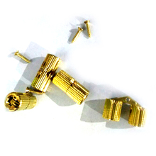 4PCS 8mm Copper Barrel Hinges Cylindrical Hidden Cabinet Concealed Invisible Brass Hinges Mount For Furniture Hardware(China)