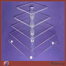 Clear 5 Tier Maypole Acrylic Cupcake Stand, Plexiglass Cupcake Display, Perspex Cupcake Tower acrylic cupcake stand(China)