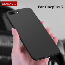 MAKAVO Cover For OnePlus 5 Case 360 Protection Soft Matte Silicone Housing For One Plus 5 OnePlus 5 Phone Cases A5000