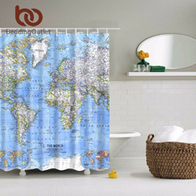 BeddingOutlet World Map Shower Curtain Bathroom Vivid No Mildew Waterproof Washable 71 x 71 Inch 180 x 180 cm Fashion
