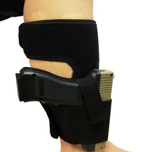 New Outdoor Tactical Padded Concealed Ankle Holster Black Hunting Bag Belt Strap Belt Ankle Leg Gun Holster Pouches(China)