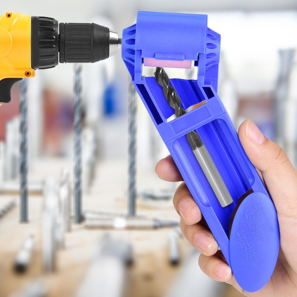 Corundum Wheel Portable Drill Bit Sharpener Wear Resisting Grinding with Spanner