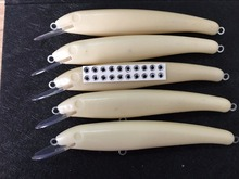 5pcs Unpainted Minnor Fishing Lure Body 8 Inch 1 1/3 OZ Blank lures JS#229