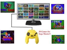 Plug and Play Handheld TV Video Game Console For  8 Bit Games with 30 Built-in Games 50 Game Levels NTSC AV Output