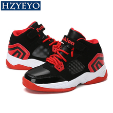 HZYEYO Cool Boys Children Basketball Shoes Breathable Blue Red Running Sneakers Kids Trainers sports For Teenagers , B-009(China)