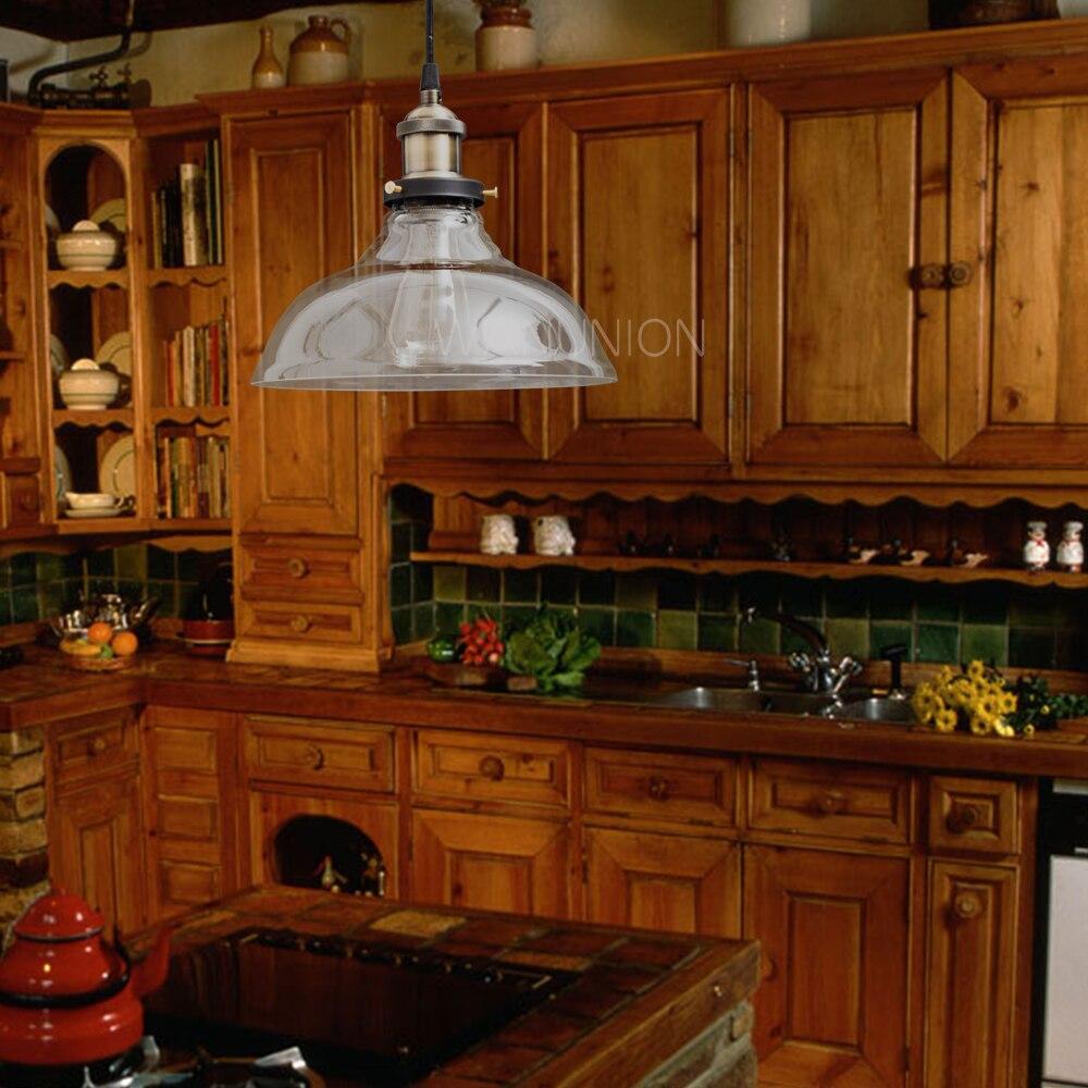 Vintage Glass Pendant Lights Hanglamp Light Fixtures Retro Industrial Pendant Lamp Loft Lamparas Colgantes 110v 220v E27 Bulb<br>
