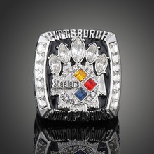 2005 Super Bowl XL Pittsburgh Steelers Championship Ring Men Jewelry American Football Game Replica Champion Ring For Sport Fans(China)