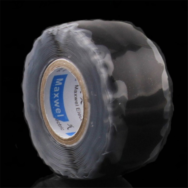 New Useful Waterproof Black Silicone Performance Repair Bonding Rescue Self Fusing Wire Hose