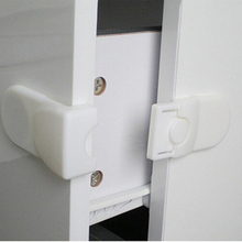 Practical New 1 Pc Cabinet Drawer Cupboard Refrigerator Toilet Door Closet Locks Plastic Lock Baby LockCare Child Safety(China)