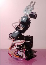 6 DOF Mechanical Arm/six aixs robot arm/ with square base/ claw/ 3D rotation/Mechanical Hand & Robot Teaching Platform(China)