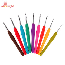 Buy 9pcs Crochet Needle Knitting Needles Sewing Multicolor Soft Plastic Handle Aluminum Crochet Hooks Sewing Knitting Tool Set for $4.04 in AliExpress store