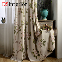 DSinterior natural design polyester cotton curtain for living room and bedroom