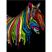 Animal zebra DIY Digital Painting By Numbers Modern Wall Art Canvas Painting Unique Gift For Art Wall Home Decor 40*50cm r317