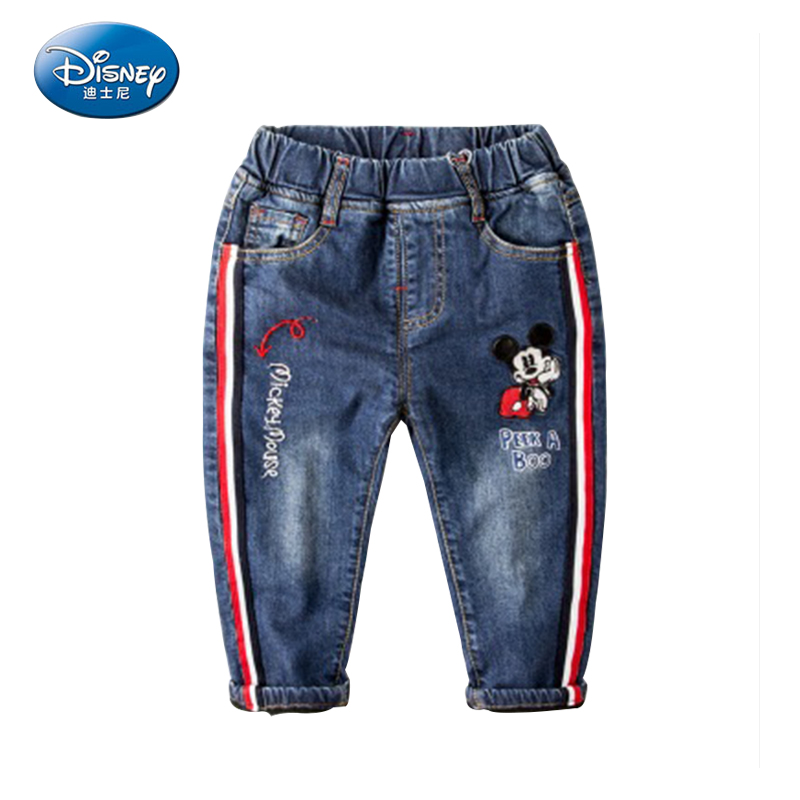 Disney Child Thick Winter Jeans  Boy Pants Mickey Mouse Cartoon Warming  In Winter Trousers <br>