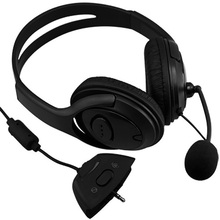 New Hot Sale protable Wired Gaming Chat dual Headset Headphone Microphone for xbox 360 computer Black
