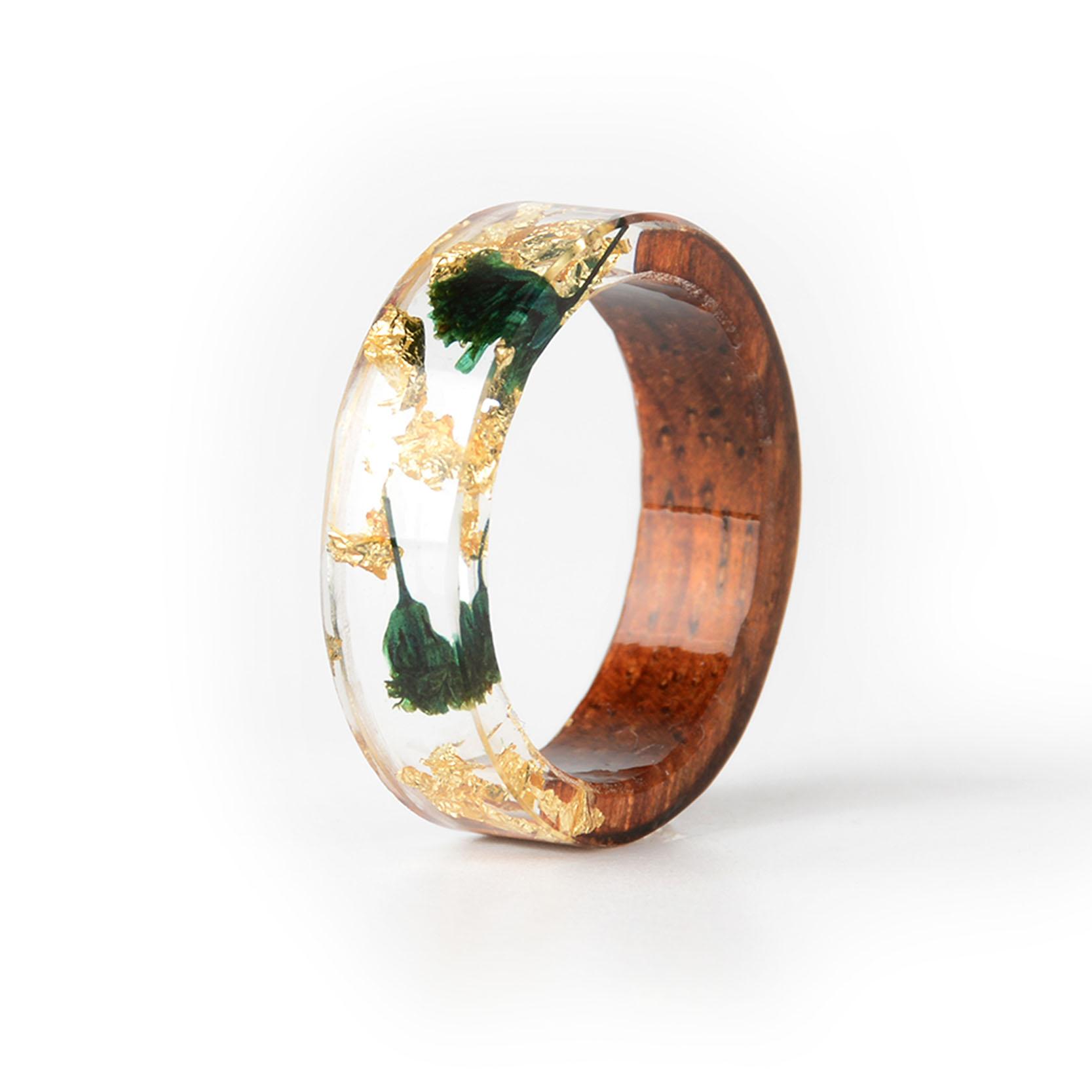 Handmade Wood Resin Ring Many Styles 26
