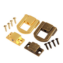 1Pc 25x20mm Antique Bronze/Gold Box Hasps Metal Lock Catch Latches for Jewelry Chest Box Suitcase Buckle Clasp Vintage Hardware