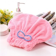 2016 6 Colors Microfiber Solid Hair Turban Quickly Dry Hair Hat Womens Girls Lady's Cap Bathing Tool Drying Towel Head Wrap Hat