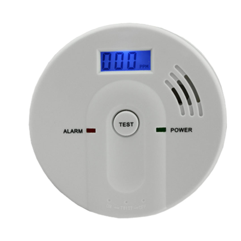 Home Security Battery Operated Carbon Monoxide Alarm with LCD Display CE Rohs Certification AG security Factory(China (Mainland))