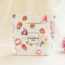 big size 10 pcs paper bag kiss sunshine design gift packaging birthday valentine's day party candy holding