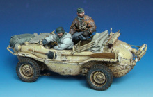 Unpainted Kit 1/35 wimmwagen Crew not have car   soldier  figure Historical WWII Figure Resin  Kit Free Shipping