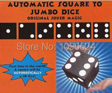 Free Shipping Automatic Square To Jumbo Dice,stage magic props/accessories,close up magic tricks,fun,illusion
